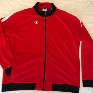 CHAMPION Track Jacket Full Zip Red Pocket Zip XL